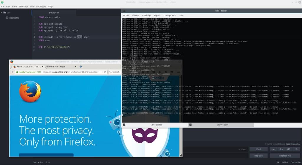 Firefox dans un Docker